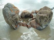 weathered boulder