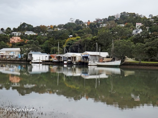 morning boatsheds