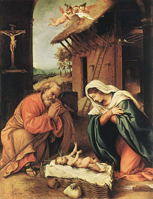 nativity by Lorenza Lotto