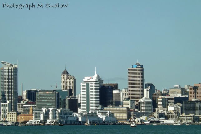 Auckland from the motorway