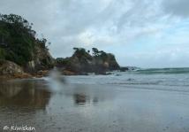wet beach