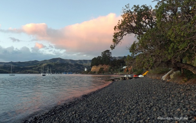 Akaroa winter evening
