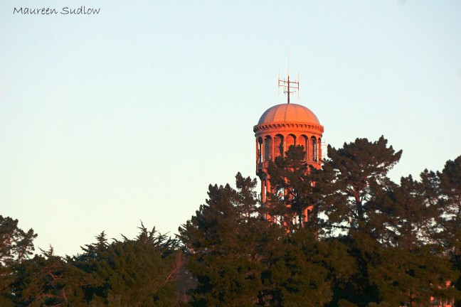 evening water tower