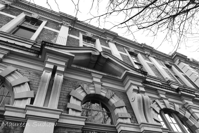 Whanganui buildings in black and white two